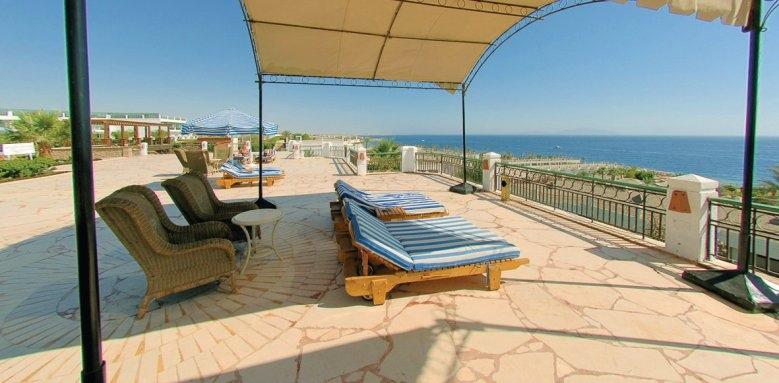 Hilton Sharm Waterfalls Resort, sun terrace