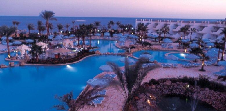 Hilton Sharm Waterfalls Resort, pool night