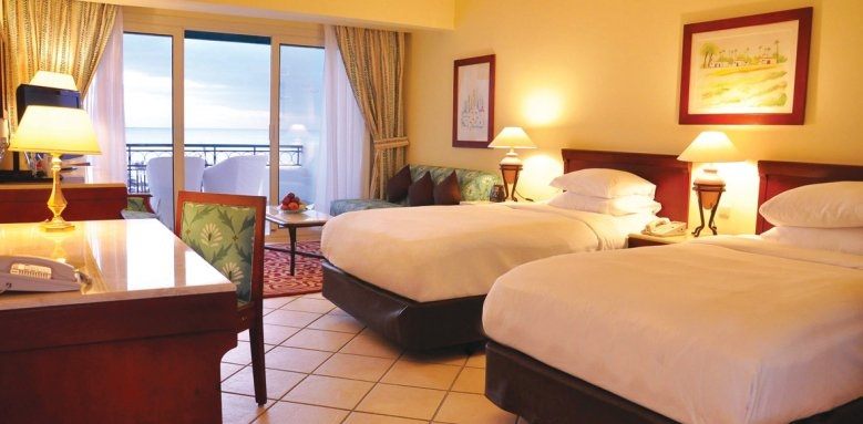 Hilton Sharm Waterfalls Resort, deluxe twin room sea view