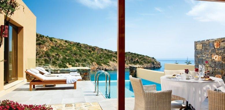 Daios Cove Luxury Resort & Villas,villa pool and terrace
