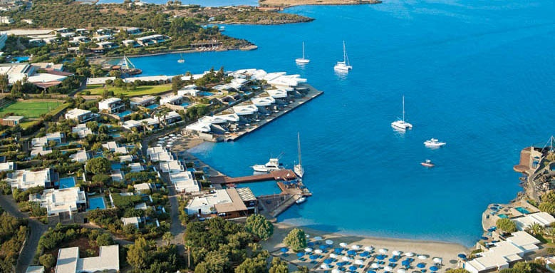 Elounda Beach Hotels and Villas, aerial view