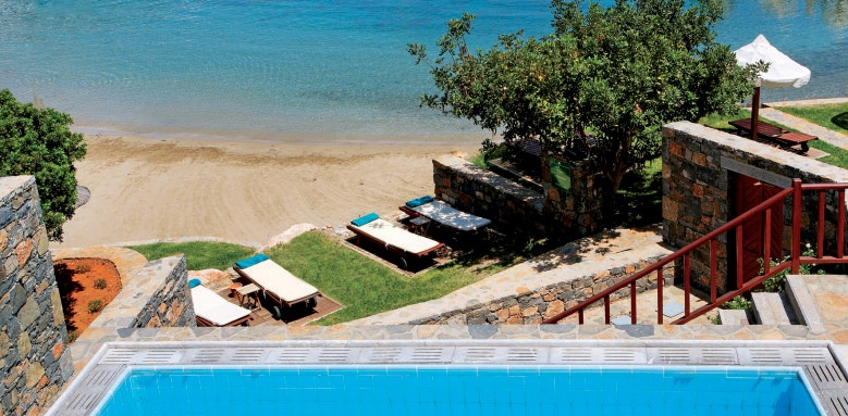 Elounda peninsula, junior suite private pool