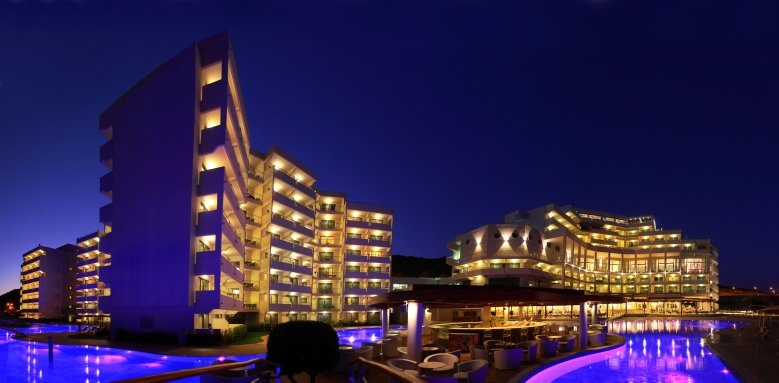 Elysium Resort & Spa, night exterior