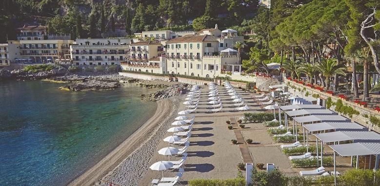 belmond villa sant andrea, private beach view