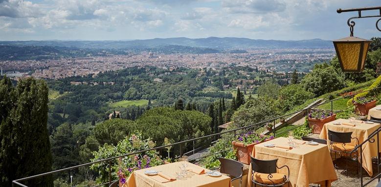 belmond villa san michele, restaurant view