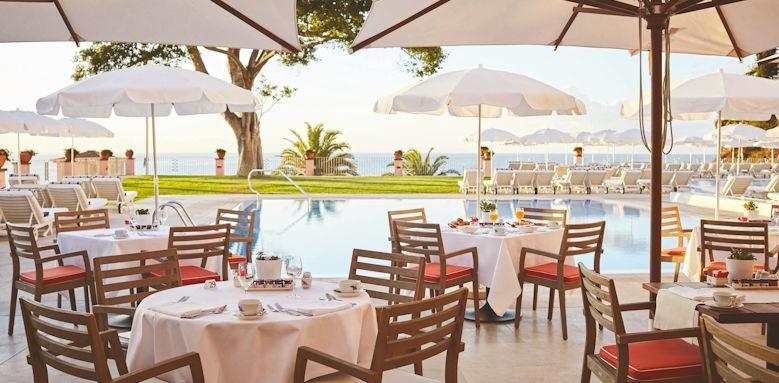 belmond reids palace, poolside restaurant