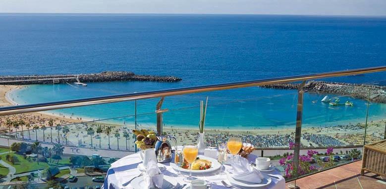 Gloria Palace Royal Hotel & Spa, breakfast terrace