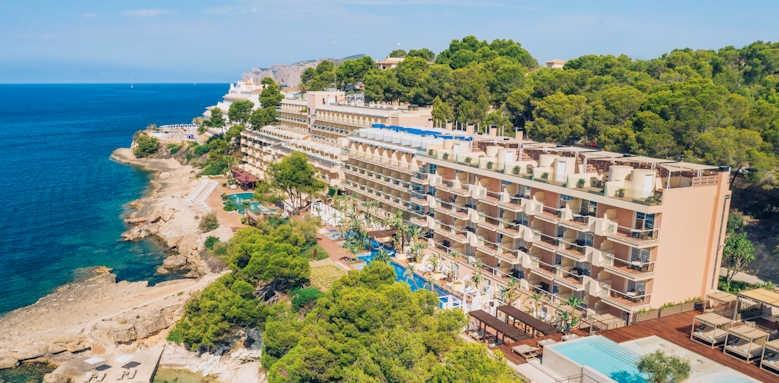 iberostar jardin del sol, aerial view of hotel
