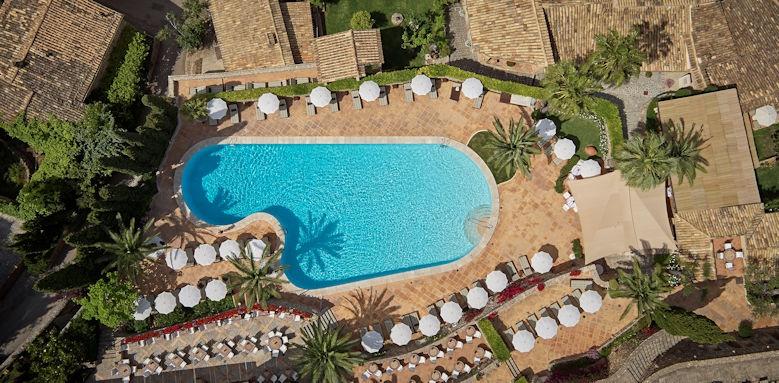belmond la residencia, pool aerial view