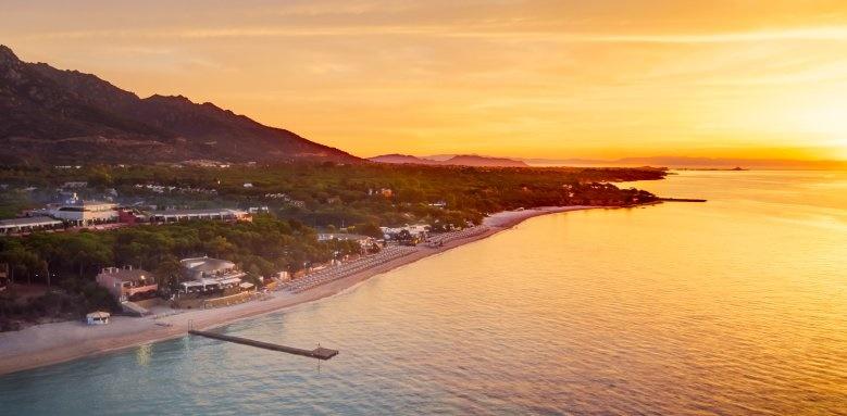 Le Palme, sunset