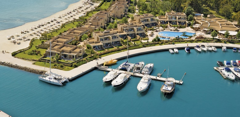 Sani Asterias Suites, aerial view