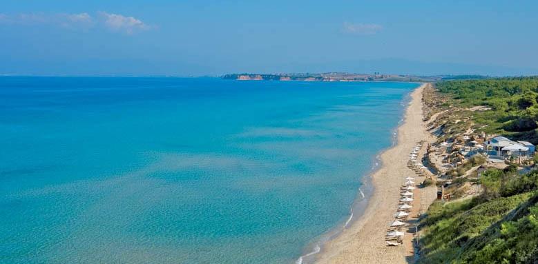 Sani Beach Hotel, beach