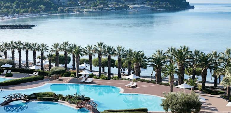 Sani Beach Hotel, aerial view