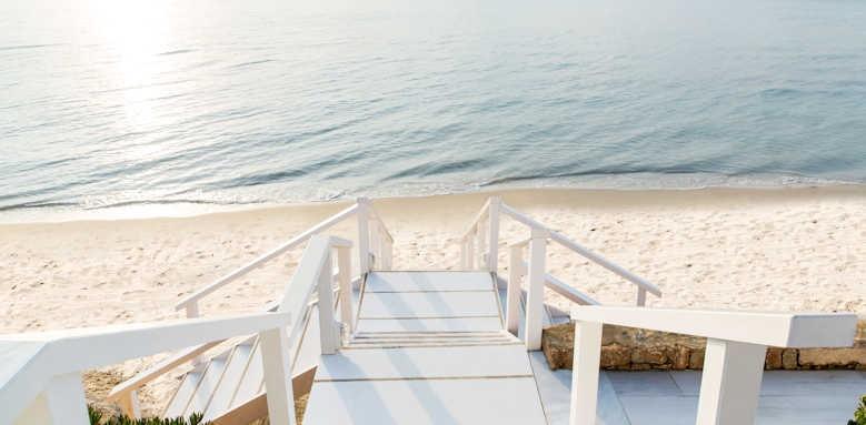 Sani Beach Hotel, steps to beach