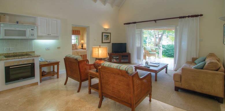 Little Good Harbour, two bedroom garden suite lounge