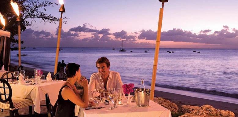 Mango Bay, dining on deck sunset