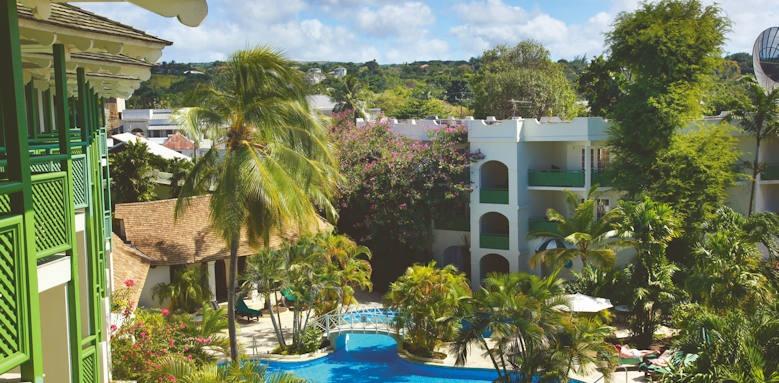 Barbados, mango bay, pool overview