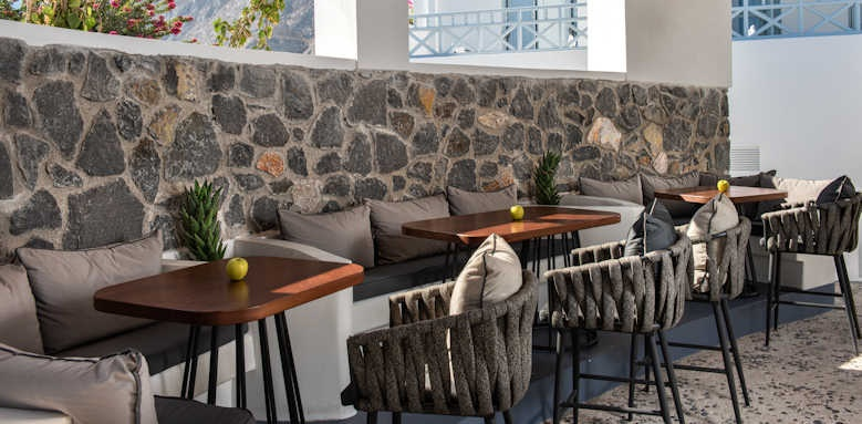 Santorini Kastelli Resort, bar lounge