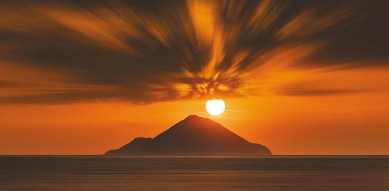 Therasia Resort, sunset