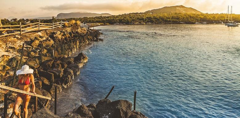 Therasia Resort, vulcano island sunset