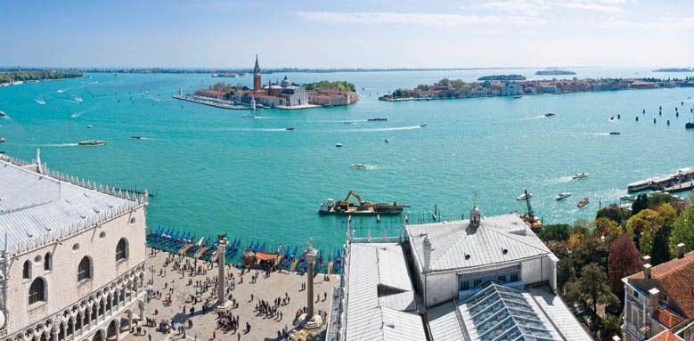 San Clemente Palace Kempinski Venice, St Mark's basin and view