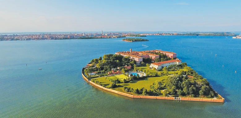 San Clemente Palace Kempinski Venice, aerial view