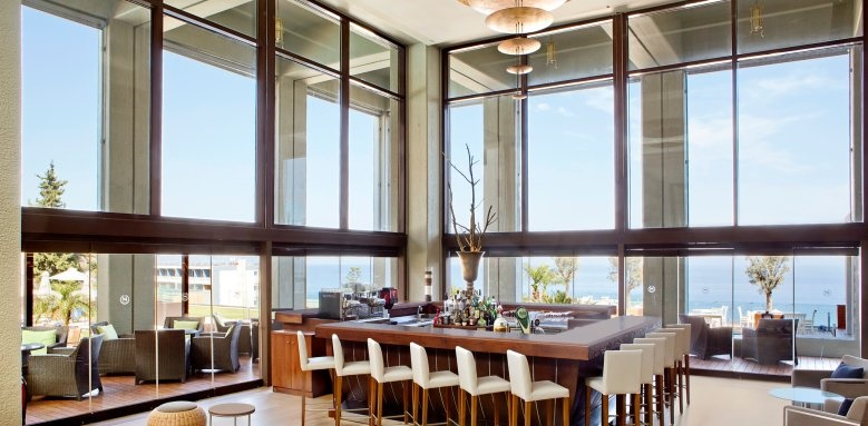 Sheraton Rhodes Resort, lounge bar interior