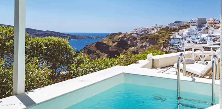 canaves oia suites, suite with private pool