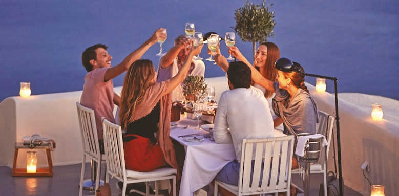 canaves oia suites, group dinner