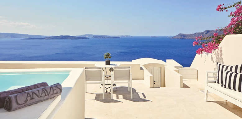 canaves oia suites, honeymoon suit