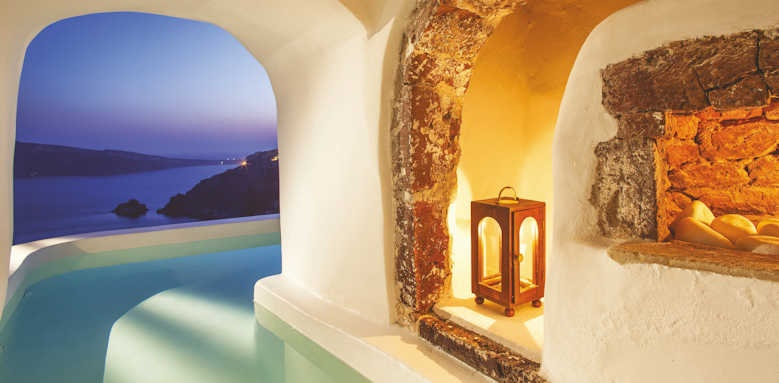 canaves oia suites, river pool suite