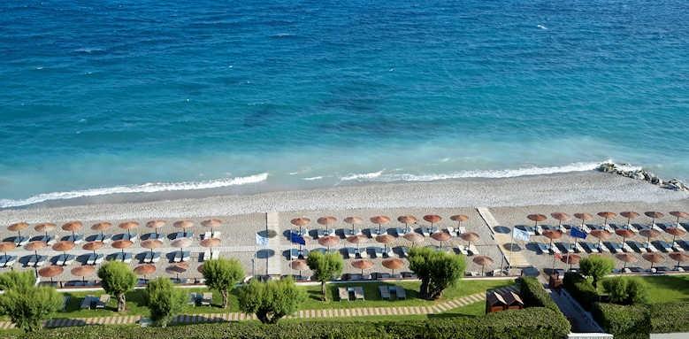 Rhodes Bay Hotel, aerial view