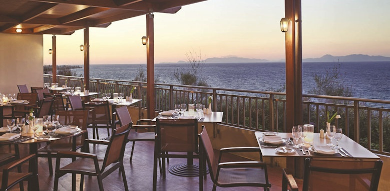 amathus beach, restaurant balcony