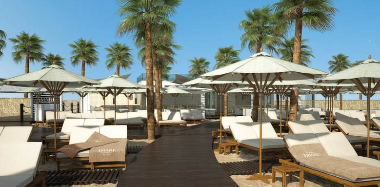 Hotel Fuerte Miramar, beach loungers