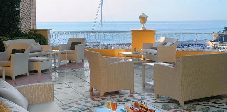 Hotel Hermitage, crystal bar terrace