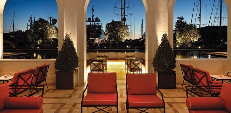 Regent Porto Montenegro, bar terrace