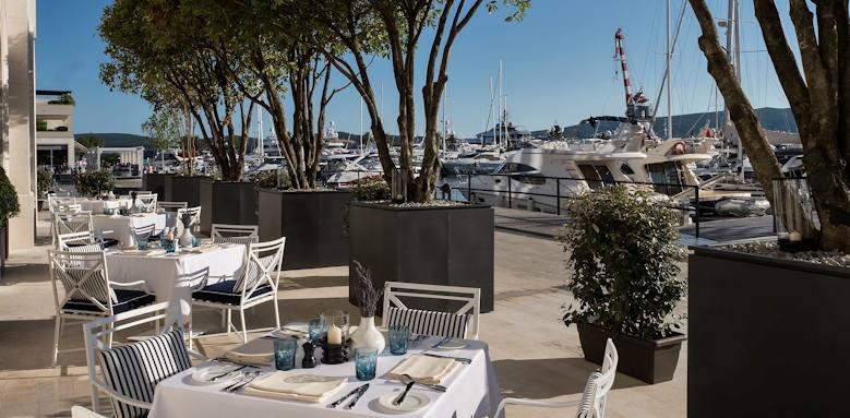 Regent Porto Montenegro, murano restaurant terrace