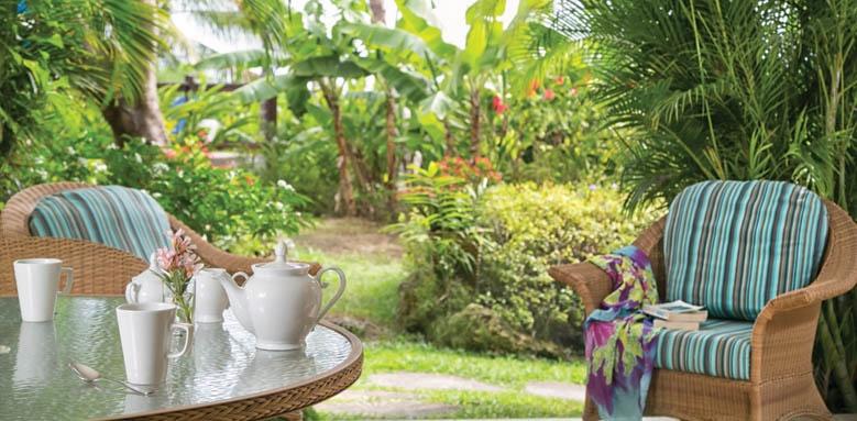 Beach View, Tea in the garden