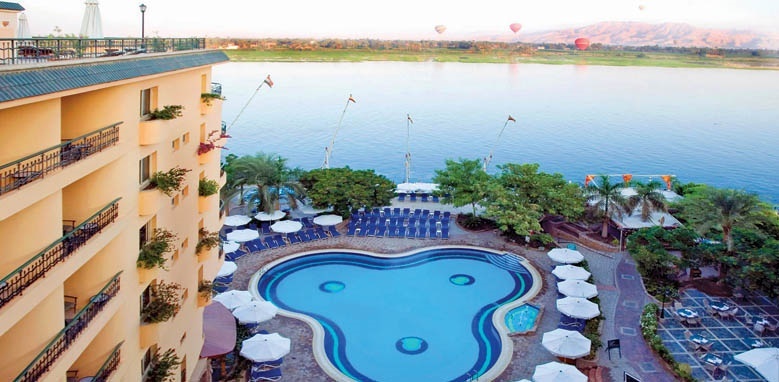 Steigenberger Nile Palace, pool and Nile view