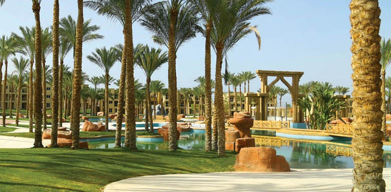 Rixos Seagate Sharm, garden and pool view