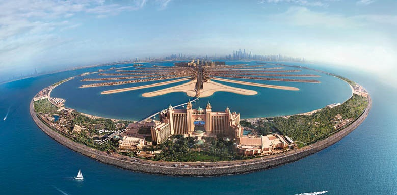 Atlantis The Palm, overall aerial view