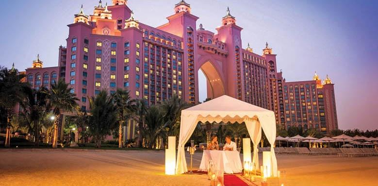 Atlantis The Palm, romantic beach dining