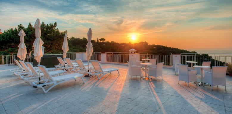Boutique Hotel Helios, sunset terrace