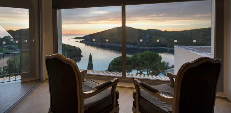 Domotel Agios Nikolaos, sunset from lobby