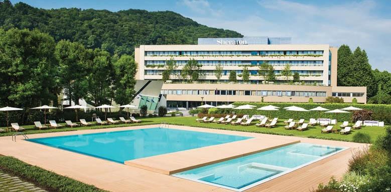 Sheraton Lake Como Hotel, Pool and Hotel View