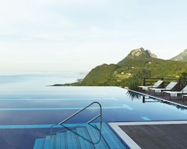 Lefay Resort, infinity pool