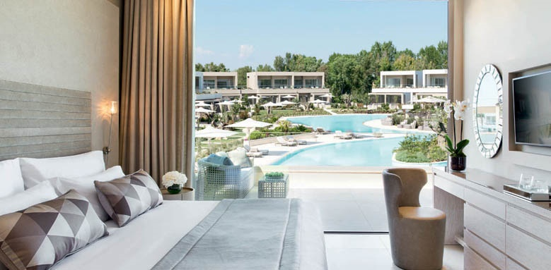 Sani Dunes, one bed suite grand balcony pool view