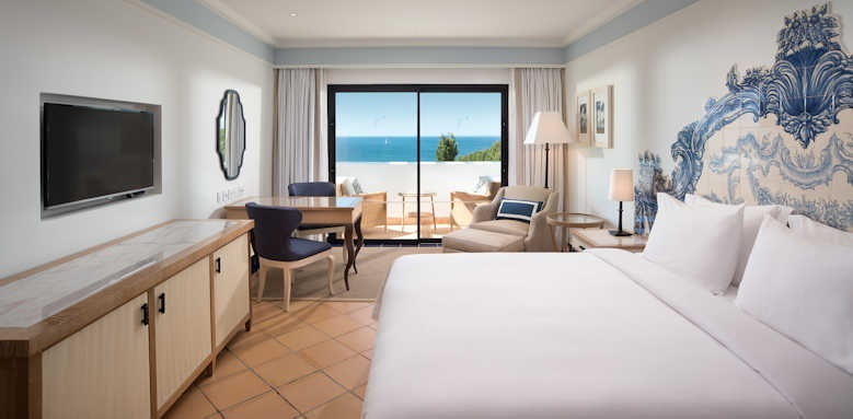 Pine Cliffs Hotel, deluxe room with view of Atlantic