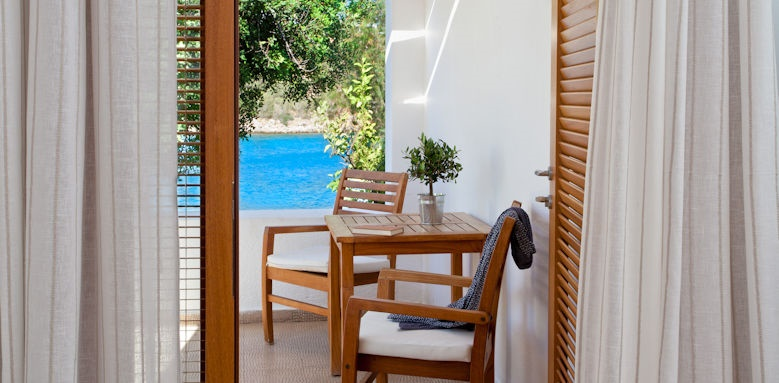minos beach, bungalow waterfront