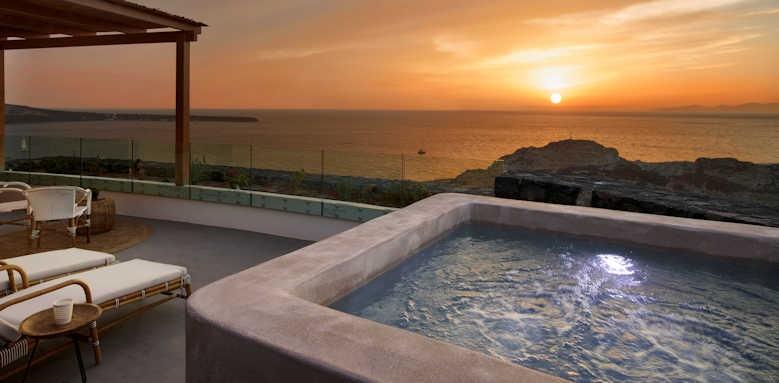 Santo Maris, Exclusive junior suite sunset